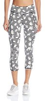Betsey Johnson Women's Stripe Daisy Printed Crop Leggings