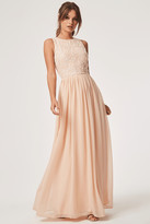 Little Mistress Luxury Anya Nude Hand-Embellished Sequin Maxi Dress