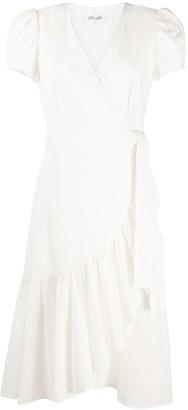 Diane von Furstenberg Tie-Waist Ruffled Trim Dress
