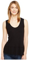 Michael Stars Hemp Jersey Scoop Neck Flounce Tank Top Women's Sleeveless