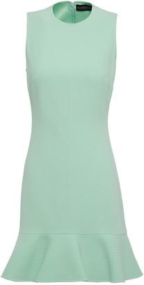 David Koma Fluted Stretch-crepe Mini Dress