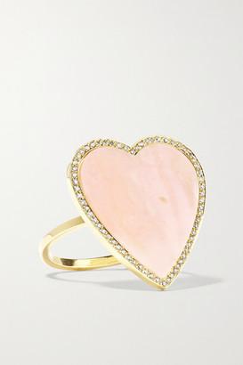 Jennifer Meyer Heart 18-karat Gold, Opal And Diamond Ring - US6