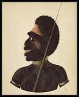 Posters 2 Prints Cobbawn Wogi, native chief of Port Stephen, NSW, 1820