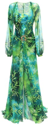 Versace Embellished Buckle Printed Dress