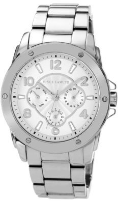 Vince Camuto Ladies Oversized Stainless Steel Watch