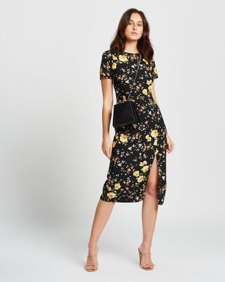 Dorothy Perkins Floral Split Midi Dress