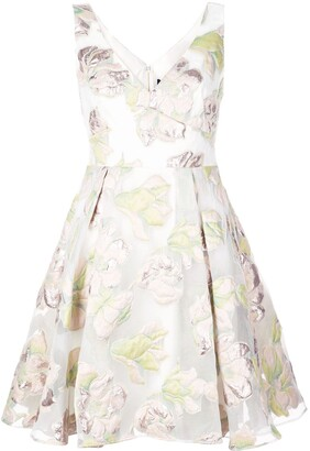 Marchesa Floral Skater Dress
