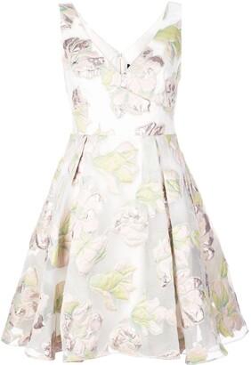 Marchesa floral skater dress