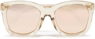 Linda Farrow Square-frame Rose Gold-tone And Acetate Mirrored Sunglasses