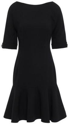 Dolce & Gabbana Fluted Crystal-embellished Wool-blend Crepe Dress