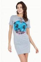 Select Fashion Fashion Palm Print Lattice Front Bodycon Dress 0 - size 10