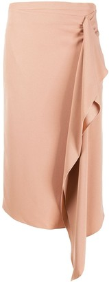 Rochas Draped Skirt