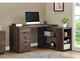 Bronx Dousman L-Shape Executive Desk Ivy Color: Brown
