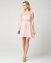 Le Château Sparkle Knit Sweetheart Party Dress
