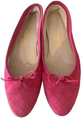 Chanel Pink Suede Ballet flats