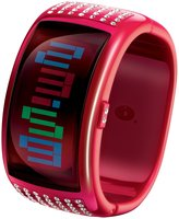 o.d.m. Women's Pixel Daze DD109-5 Red Platinum Plated Stainless-Steel Quartz Watch with Dial