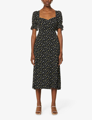 Reformation Dulcie floral-print rayon-blend midi dress