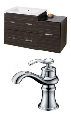 "Kyra Modern 38"" Multi-Layer Stain Single Bathroom Vanity Set with 3 Drawers Orren Ellis"