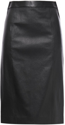 Joseph Elle Back-split Stretch-leather Pencil Skirt