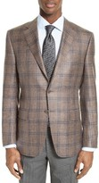 Canali Men's Classic Fit Plaid Wool Blend Sport Coat
