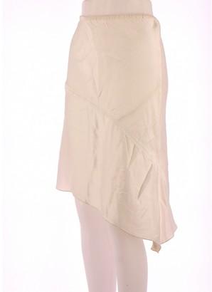 Maje White Silk Skirt for Women