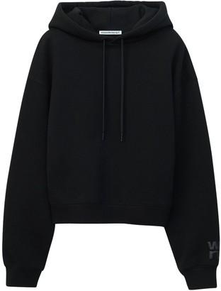 Alexander Wang Logo Stretch Cotton Sweatshirt Hoodie