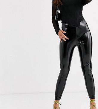 ASOS DESIGN Petite vinyl legging