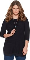M&Co Plus ribbed tunic jumper