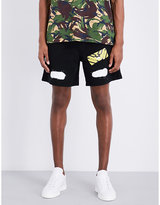 Off-white C/o Virgil Abloh Spray Logo-print Cotton-jersey Shorts