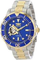 Invicta Men's Automatic Pro Diver Textured Dial Stainless Steel & 18K Gold Plated SS