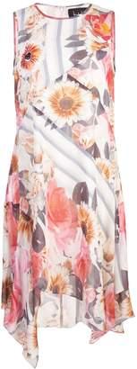 Nicole Miller striped floral dress
