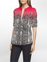 Calvin Klein Ombre Snake Roll-Up Shirt