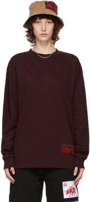 SSENSE WORKS SSENSE Exclusive 88rising Burgundy Ox Long Sleeve T-Shirt