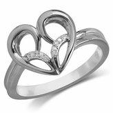 Jessica Simpson Diamond Accent Heart Ring in 10k White Gold