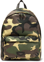 Givenchy Leather-Trimmed Camouflage-Print Canvas Backpack