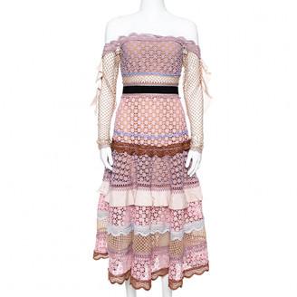 Self-Portrait Pink Cotton Dresses