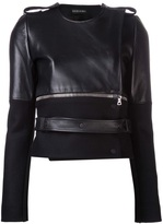 David Koma contrast sleeve jacket