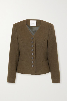 LE 17 SEPTEMBRE Wool-blend Jacket - Army green