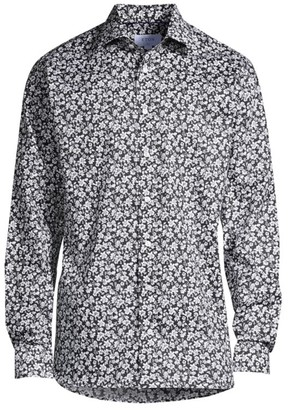 Eton Slim-Fit Floral Dress Shirt
