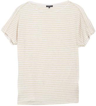 Lafayette 148 New York Gordon Striped Linen T-Shirt