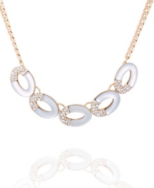 T Tahari Frosted Lucite Statement Necklace