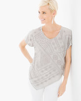 Chico's Embellished Asymmetrical Top