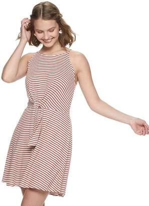 As U Wish Juniors' Knot Front Knit Dress