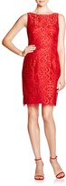 Aidan Mattox Sleeveless Lace Sheath Dress