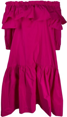 P.A.R.O.S.H. ruffled off-the-shoulder dress
