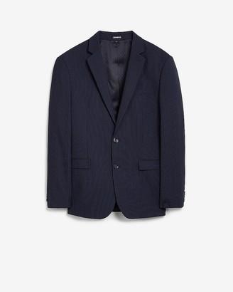 Express Extra Slim Navy Stripe Wool-Blend Suit Jacket