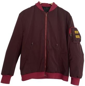 Anya Hindmarch Burgundy Synthetic Jackets