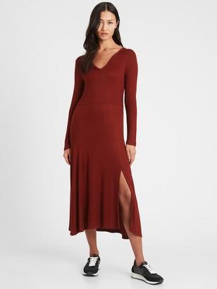 Banana Republic Ribbed-Knit Midi Dress