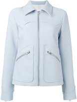 MM6 MAISON MARGIELA short crepe jacket - women - Polyester/Viscose - 40
