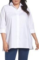 Foxcroft Plus Size Women's Skye Non-Iron Tunic Shirt